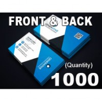 1000 BUSINESS CARDS - GLOSS - FRONT AND BACK